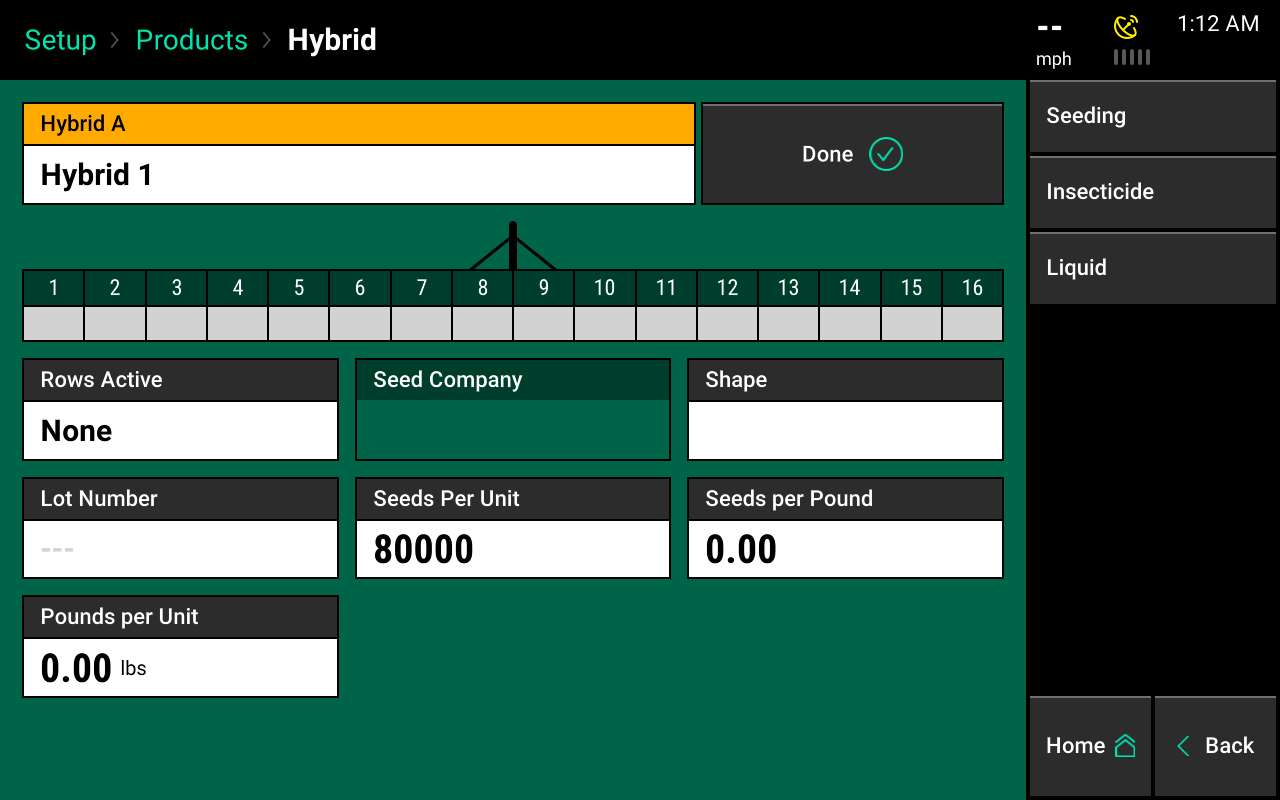 hybrids products menu screencap 2