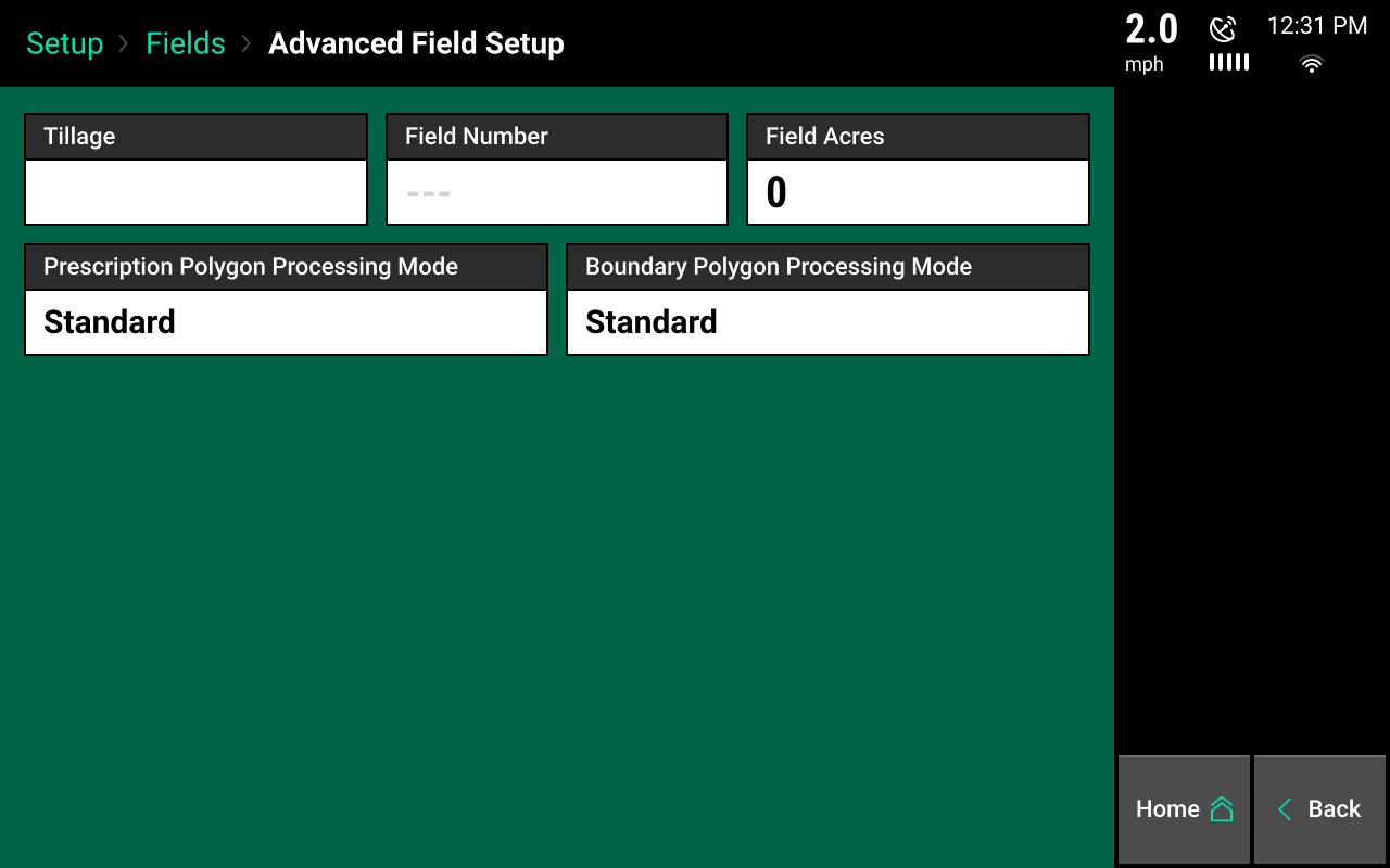 advanced field setup screencap