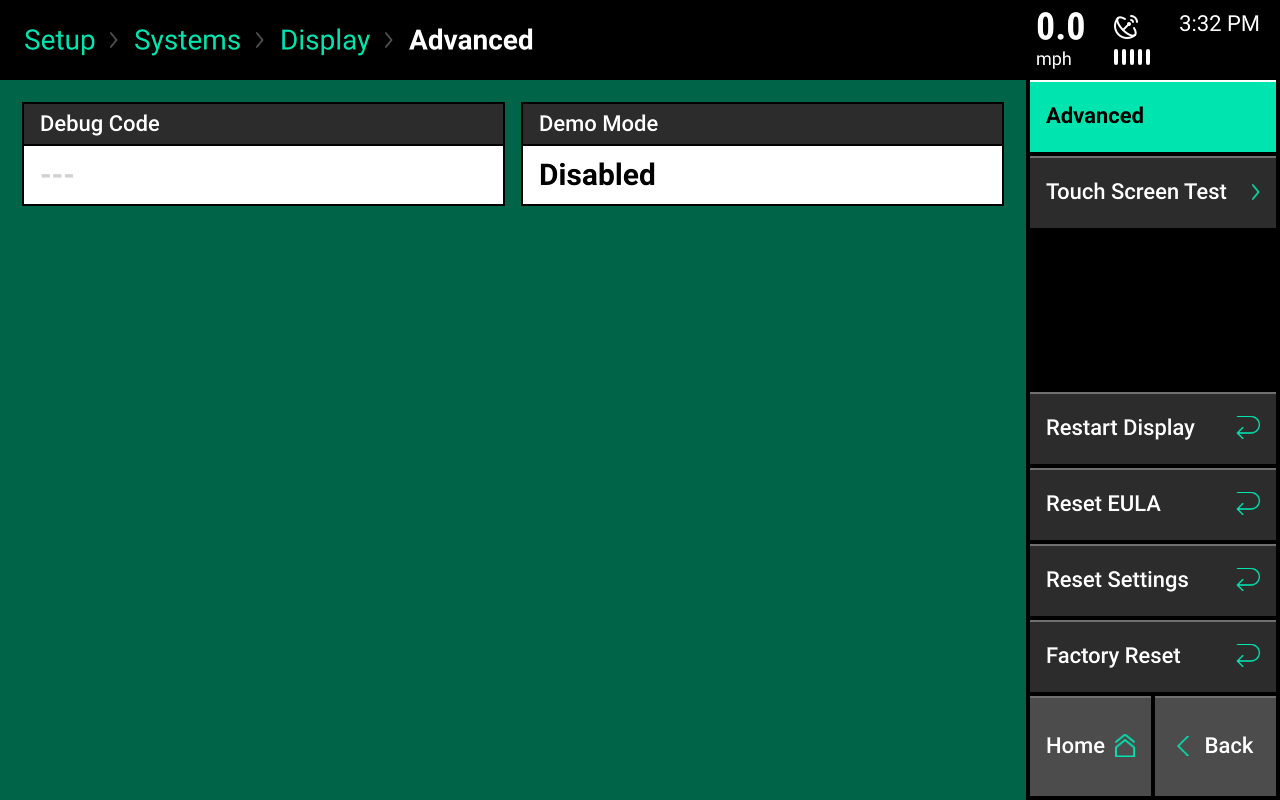 display advanced setup