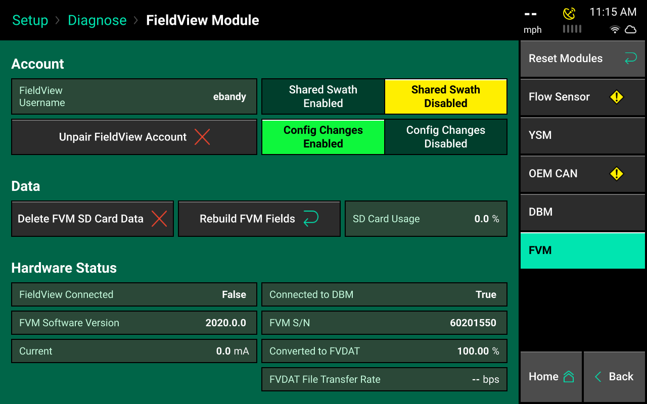 FieldView module screencap