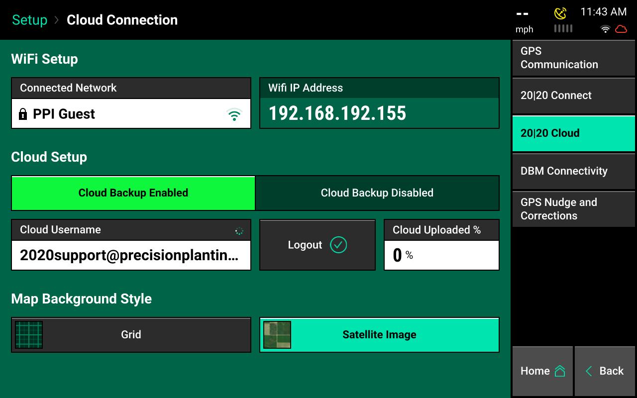 cloud backup enabled screencap