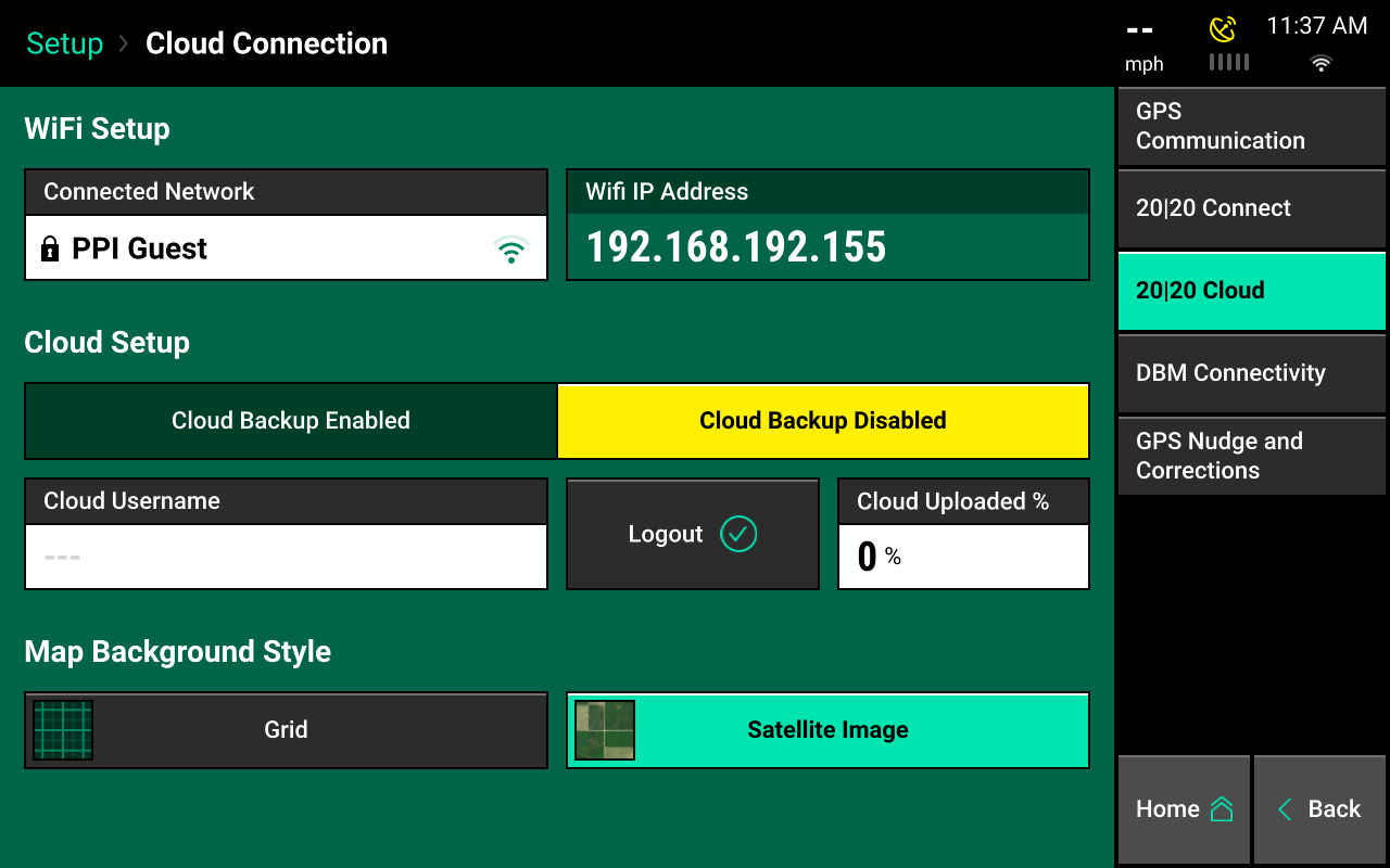 cloud setup screencap