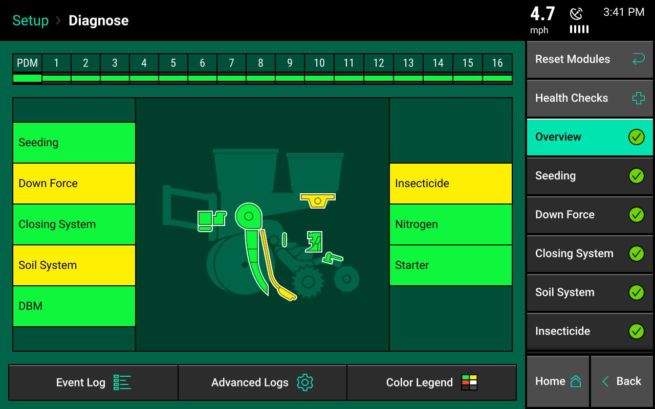 vDrive control screen